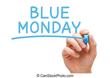 bleu, déprimant, jour, lundi, la plupart