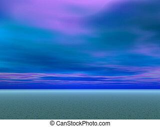 bleu, désert, cieux