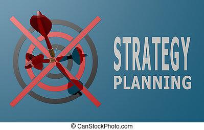 bleu, dard, planification, planche, stratégie