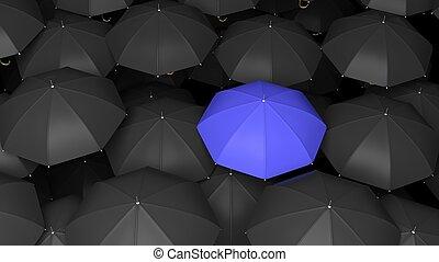 bleu, debout, classique, sommets, une, grand, rendre, noir,...
