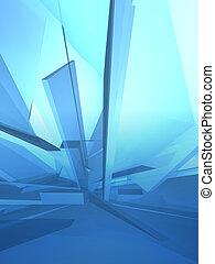 bleu, deconstruction, glace