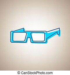 bleu, defected, arrière-plan., signe., moderne, ciel, verre, beige, vector., contour, icône