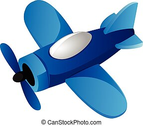 Bleu avion dessin anim bleu sur avion ciel illustration arri re plan vecteur dessin - Dessin avion stylise ...
