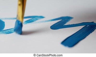 bleu, dessine, peinture, 2109, arbre noël, année, nouveau, blanc, gros plan, noël, feuille, homme