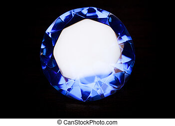 bleu, diamond.