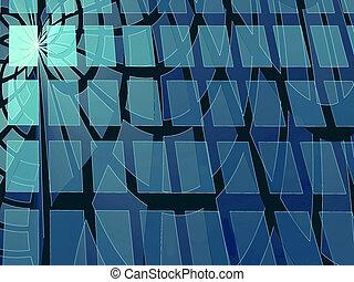 bleu, digitalement, résumé, moderne, engendré, fond