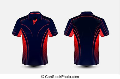 bleu, disposition, e-sport, t-shirt, conception, gabarit, rouges