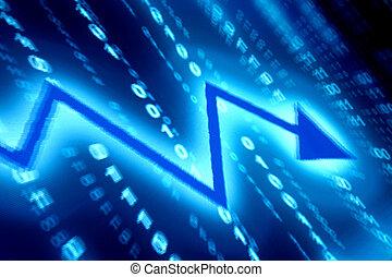bleu, données, espace