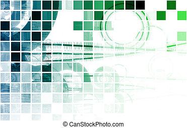 bleu, données, réseau, internet