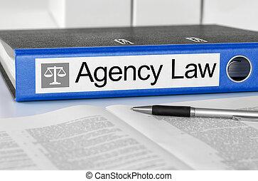 bleu, dossier, à, les, étiquette, agence, droit & loi