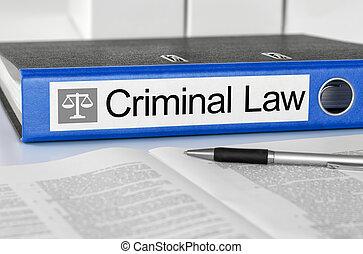 bleu, dossier, à, les, étiquette, criminel, droit & loi
