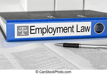 bleu, dossier, à, les, étiquette, emplyment, droit & loi
