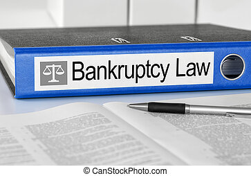 bleu, dossier, à, les, étiquette, faillite, droit & loi