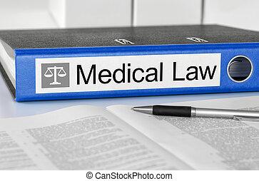bleu, dossier, à, les, étiquette, monde médical, droit & loi