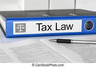bleu, dossier, à, les, étiquette, taxer loi