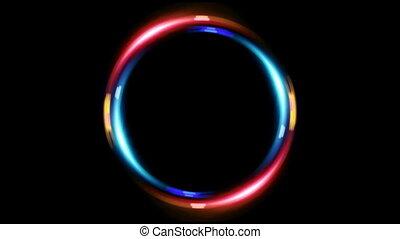 bleu, double, anneau, hd, rouges