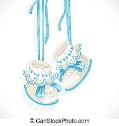 bleu, douche, carte, bébé, dentelle, butins