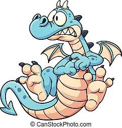 bleu, dragon