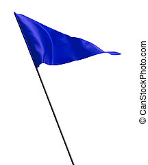 bleu, drapeau ondulant, golf