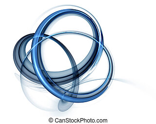 bleu, dynamique, rotation, mouvements