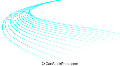 bleu, dynamique, vagues