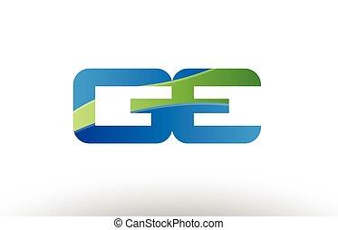 bleu, e, combinaison, g, alphabet, ge, conception, lettre, ...