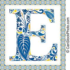 bleu, e, lettre