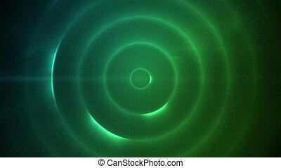 bleu, en mouvement, cercle, clignotant