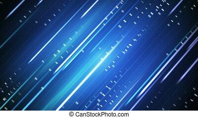bleu, en mouvement, raies, fond, loopable
