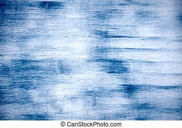 bleu, endommagé, grunge, couleur, mur, peinture, fond, vieux...
