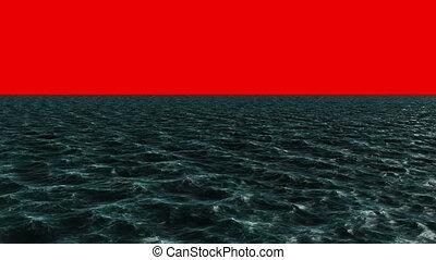 bleu, engendré, digitalement, océan