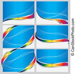 bleu, ensemble, carte affaires