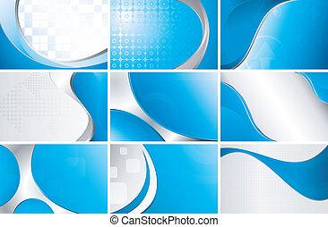 bleu, ensemble, fond, résumé