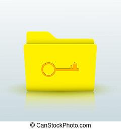 bleu, eps10, jaune, arrière-plan., vecteur, dossier
