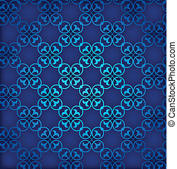 bleu, eps10, ornament., seamless, arrière-plan., vecteur, retro