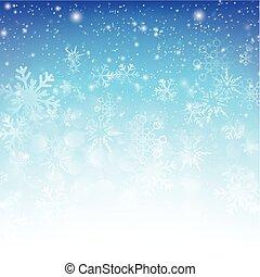 bleu, eps10, résumé, neige, illustration, bokeh, vecteur, 014, fond, automne
