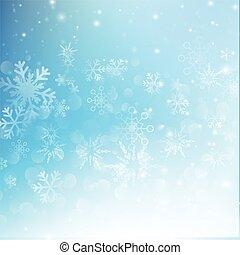 bleu, eps10, résumé, neige, illustration, bokeh, vecteur, fond, automne, 008