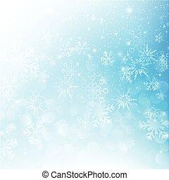 bleu, eps10, résumé, neige, illustration, bokeh, vecteur, fond, automne