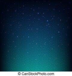 bleu, espace, ciel étoilé, fond, nuit