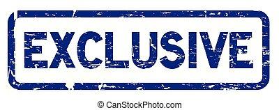 bleu, exclusif, carrée, grunge, timbre, joint en caoutchouc
