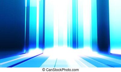 bleu, faire boucle, barres, mouvement, fond