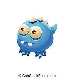 bleu, fantastique, monstre, chouchou, collection, dragon, fantasme, sans ailes, imaginaire, amical