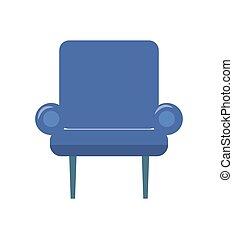 bleu, fauteuil, deux, illustration, vecteur, mince, jambes