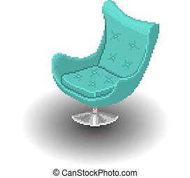 bleu, fauteuil
