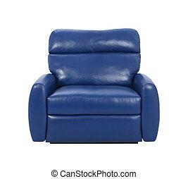 bleu, fauteuil, luxe, isolé