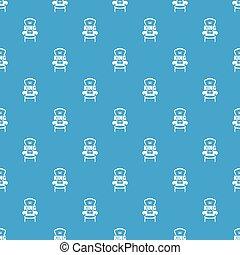 bleu, fauteuil, royal, seamless, vecteur, modèle