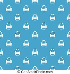 bleu, fauteuil, vecteur, seamless, modèle