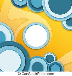 bleu, fenetres, résumé, jaune, circulaire