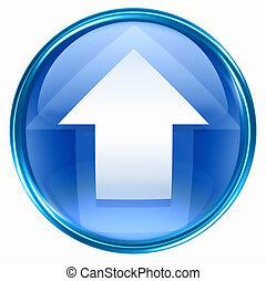 bleu, flèche ascendante, icône