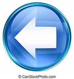 bleu, flèche gauche, icône